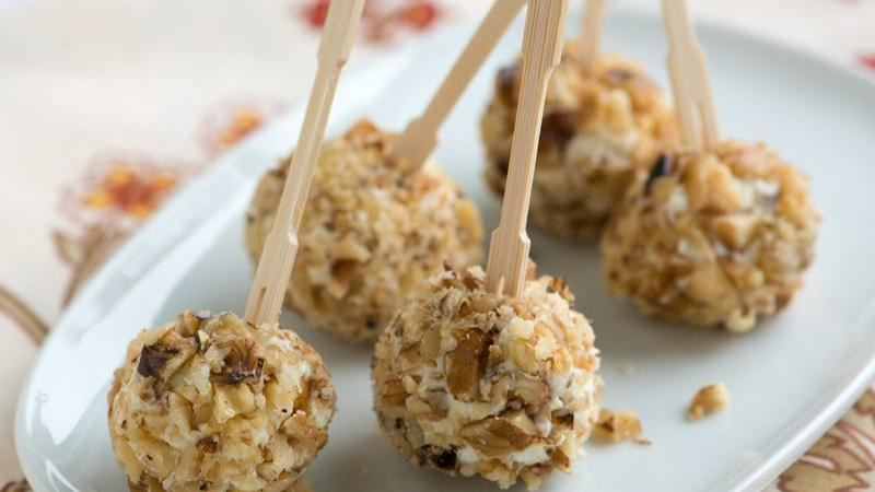 Mini Fig and Walnut Cheese Balls