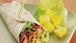 Turkey, Bacon and Avocado Wraps