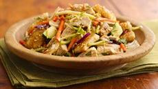 Sesame-Crouton Asian Chicken Salad Recipe