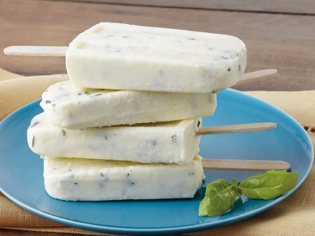 Sweet Corn and Basil Yogurt Pops