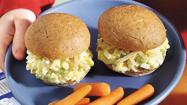 Egg Salad Snack Buns