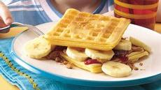 Peanut Butter and Banana Waffle-wiches Recipe