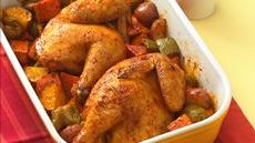Roast Cornish Hen with Vegetables Recipe