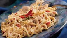 Linguine and Chicken For Two Recipe