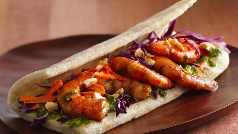 Citrus-Shrimp Wraps