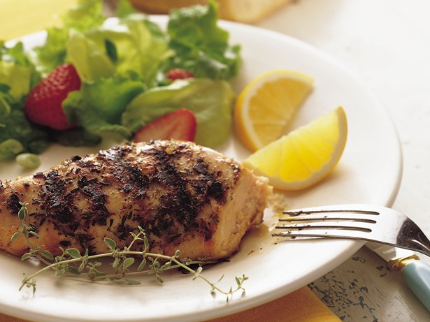 Grilled Lemon Thyme Chicken Breasts recipe from Betty Crocker