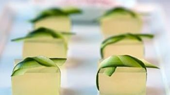 Cucumber Lime Margarita Jelly Shots
