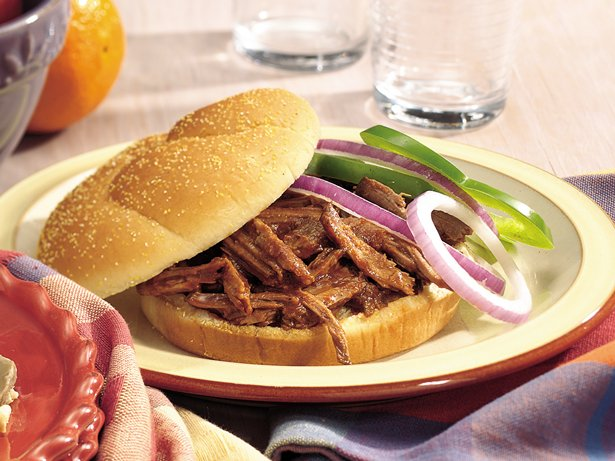 Slow Cooker Root Beer Barbecue Beef Sandwiches