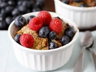 Berry Brioche Bread Pudding with Vanilla Sauce