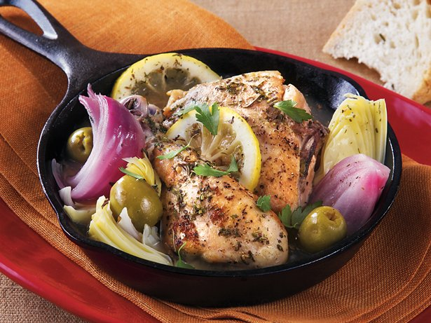 Slow Cooker Mediterranean Braised Chicken