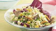 Cabbage Salad Vinaigrette with Crunchy Noodles Recipe