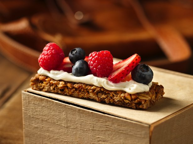 Berries and Cream Campfire Canapé