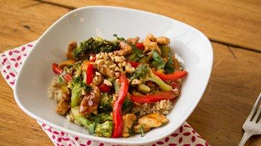 Hoisin Chicken Brown Rice Bowl