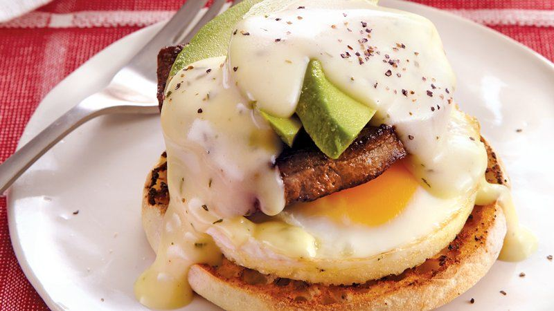 Steak and Eggs Benedict with Avocado
