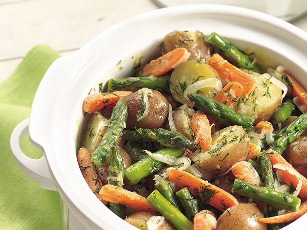 Slow Cooker New Potatoes and Spring Vegetables