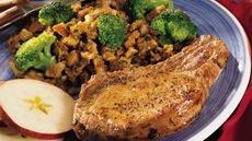 Easy Pork Chops with Stuffing Recipe