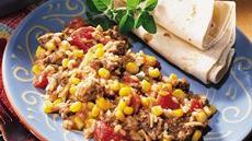 South-of-the-Border Beef and Rice Bake Recipe