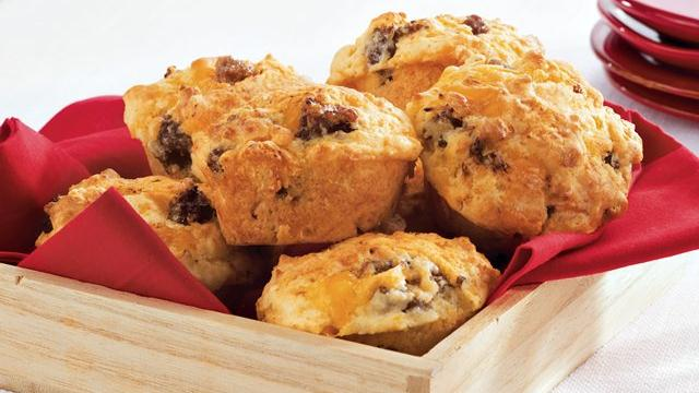 Cheesy Sausage Muffins