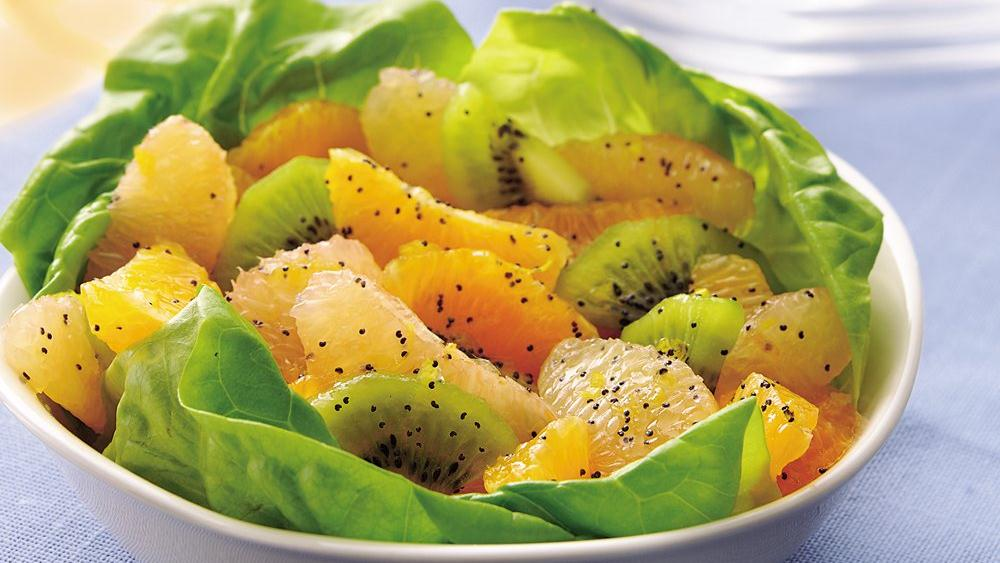 Citrus Salad with Poppy Seed-Honey Dressing recipe from Pillsbury.com