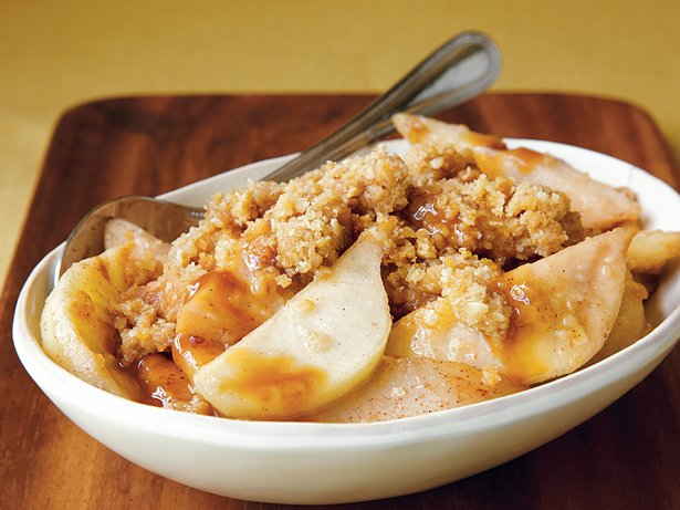 Caramel-Pear Crumble
