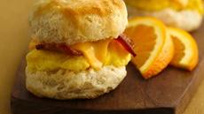 Mini Biscuit Breakfast Sandwiches Recipe