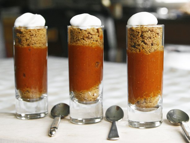 Mini Pumpkin Pie Shooters