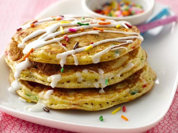 Cake Batter Pancakes recipe from Betty Crocker