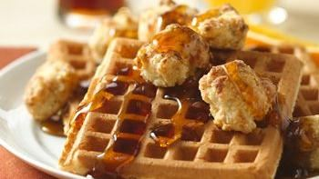 Baked Chicken Nuggets and Waffles