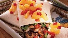 Chicken Burritos with Pineapple Salsa Recipe