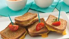 Grilled Cheese Appetizer Sandwiches Recipe
