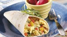 Three-Pepper Breakfast Burritos Recipe