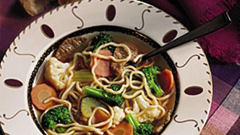 Stir-Fried Noodle Soup