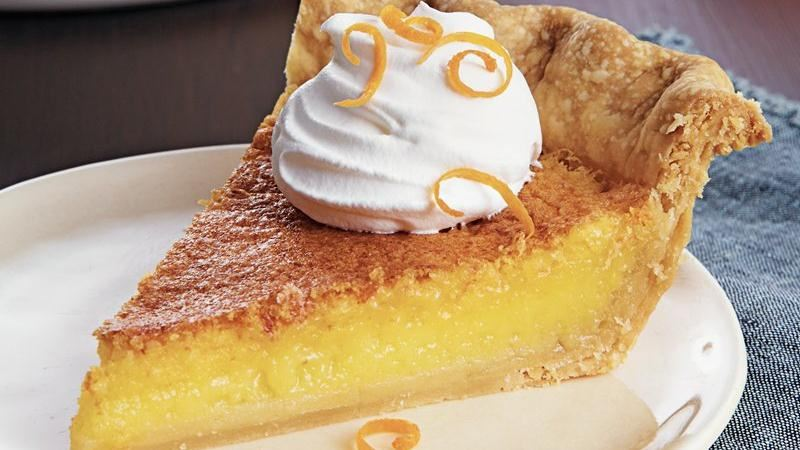 Tangerine Chess Pie