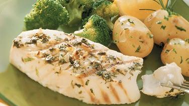 Herb-Marinated Grilled Halibut