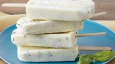 Sweet Corn and Basil Yogurt Pops Recipe
