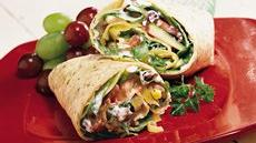 Greek Veggie Wraps Recipe