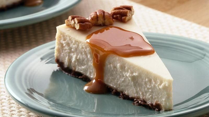 Creamy Vanilla-Caramel Cheesecake recipe from Betty Crocker