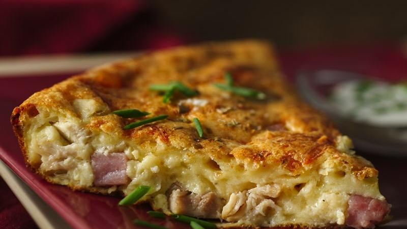 Chicken Cordon Bleu Impossibly Easy Pie