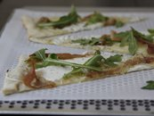 Prosciutto and Mozzarella Flatbread Pizza