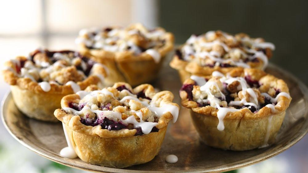 Mini Buckle Berry Pies
