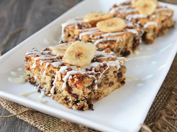 Nutty Banana Chocolate Chip Bars