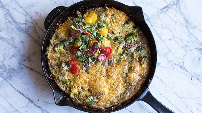 Easy Vegetable Frittata Skillet recipe - from Tablespoon!