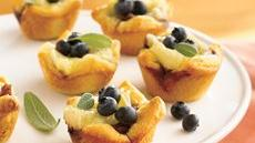 Blueberry, Walnut and Brie Tartlets Recipe