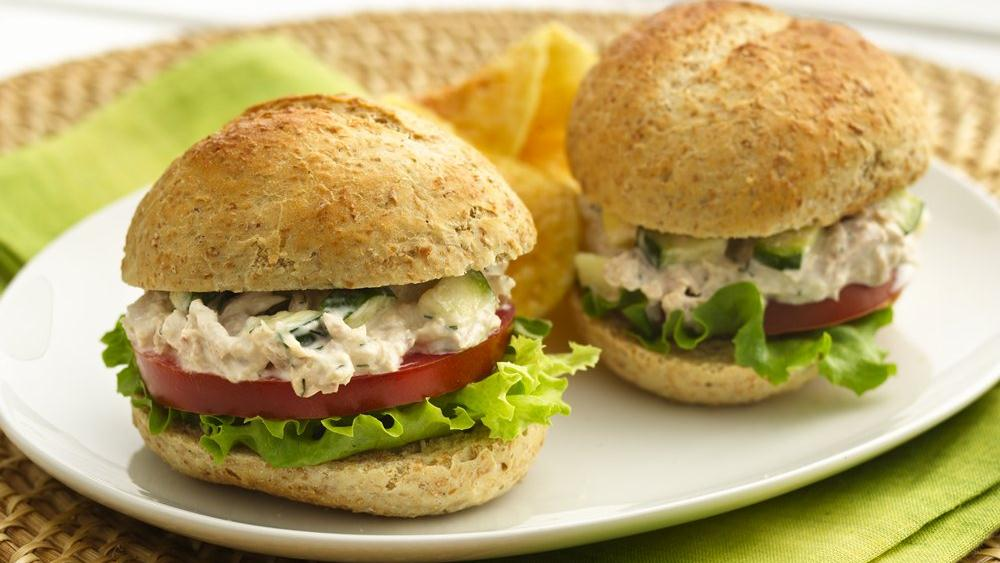 Summer Tuna Salad Sandwiches recipe from Pillsbury.com