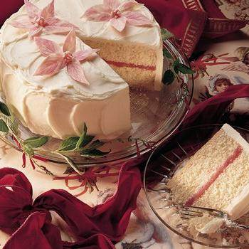 White Wedding Cake With Raspberry Filling Recipe From Betty Crocker