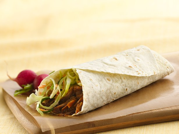 Slow Cooker Pulled Pork Wraps with Coleslaw