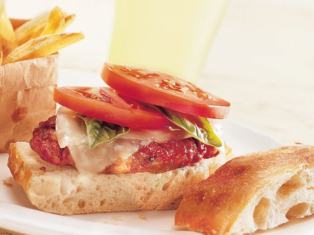 Two-Tomato Italian Burgers