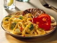Fettuccine and Broccoli with Sharp Cheddar Sauce