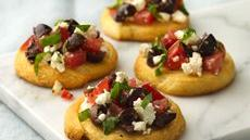 Feta and Tomato Crostini Recipe