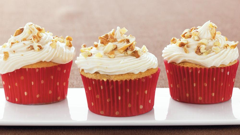 Apple Butter-Pecan Cupcakes